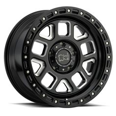 Black Rhino Alpine - Gloss Black w/ Milled Spokes - Wheel Warehouse Jeep Wheels And Tires, Custom Wheels And Tires, Off Road Wheels, Lifted Tundra, Tundra Truck, Wheel Warehouse, Black Rhino Wheels, Truck Rims, Wheel And Tire Packages
