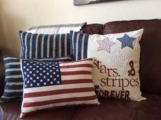American Flag Pillow star and stripe pillowThrow Pillow