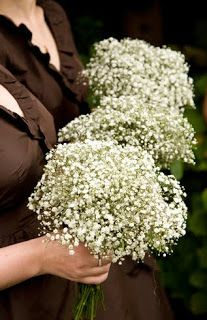 Baby's Breath bouquets! If you know me, you know I don't like baby's breath....