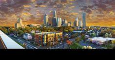 Charlotte Skyline Sunset | Charlotte NC Travel & Tourism