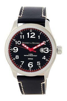 Dooney & Bourke Women's Medium Mariner Leather Strap Watch from HauteLook on shop.CatalogSpree.com, your personal digital mall.