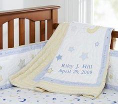 Moon And Stars Crib Bedding