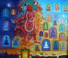 Divine Dream of Soyolmaa Davaakhuu. Fine Arts College, Om Mani Padme Hum, Buddhist Art, Artist, Painting, Visionary Art, Artists, Painting Art, Buddha Art