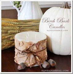 DIY Birch Bark Candles