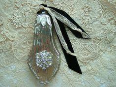 mercury glass perfume bottle