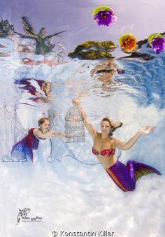 Unterwasserfotografie. UW Model : Eugenia und Vivien Fo... by Konstantin Killer