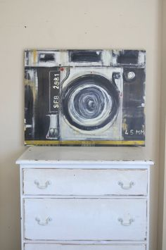 Etsy listing at https://www.etsy.com/listing/197328761/vintage-camera-gallery-wrapped-canvas