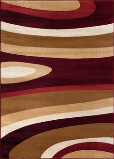 110 Burgundy Alpine Rug