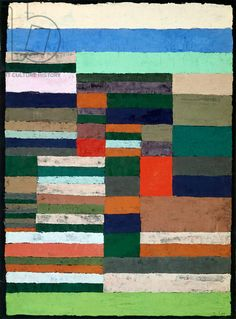 Paul Klee - 'Individualized Altimetry of Stripes' - Paul Klee (1879-1940), pastel on paper