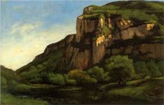 Rocks at Mouthier - Gustave Courbet