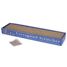 Meow Town Corrugated EcoFriendly Cat Scratcher for Cats and Kittens  19L x 4W x 2H >>> Continue to the product at the image link.