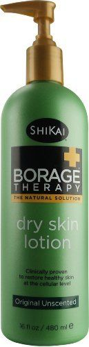 Borage Therapy Original Formula Lotion by Shikai 16 fl oz Lotion by Shikai. $11.73. Shikai. Most lotions work on the skins surface to relieve the symptoms of dry skin, while ignoring the real cause that lies within the skin cells. Borage Therapy Original Formula Lotion by Shikai 16 fl oz Lotion Borage Therapy Original Formula Lotion 16 fl oz Lotion Promotes healing at the cellular level by reversing a deficiency of the critical omega-6 fatty acid GLA. Fast Relie...