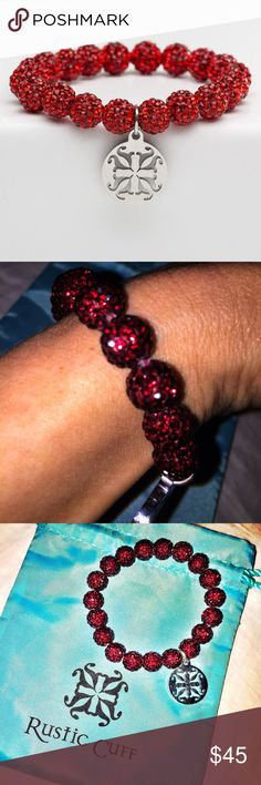 NIB Dk Red Rustic Cuff Emerson Bracelet NIB Dk Red Rustic Cuff Emerson Bracelet w Silver tag. Brand new. Never worn. Perfect condition Rustic Cuff Jewelry Bracelets