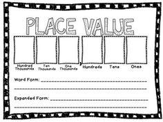 PLACE VALUE ACTIVITY MAT - TeachersPayTeachers.com