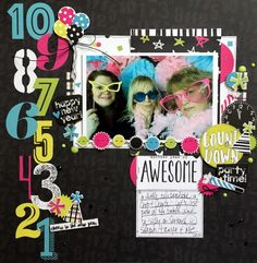 Layout from creative team member Kristine Davidson using our Happy New Year Simple Set