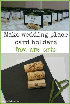 Cork Place Cards On Pinterest