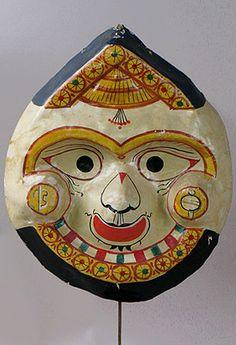 Lord Balarama mask, Orissa, India, Hindu