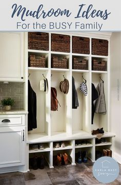 Tried and True Tips for A Functional and Stylish Family Mudroom. Mudroom ideas, mudroom ideas, entryway, lockers, mudroom storage, drop zone, bench, coat hooks, kids lockers, shoes shelves, mudroom bench, mudroom cubbies, mudroom entryway, mudroom lockers