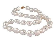 Natural Baroque Pearl Necklace