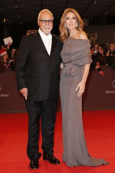 Celine Dion and Rene Angelil attend the 'BAMBI Awards 2012 Celine Dion, Mother Of Groom Dresses, Mother Of The Bride, Fall Fashion Outfits, Autumn Fashion, Famous Couples, Bridesmaid Dresses, Wedding Dresses, Celebrity Couples