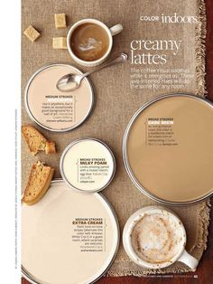 Latte inspired paint colours #natural.