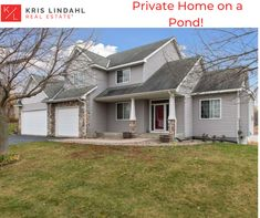 Beautiful home with a pond outside! 4 bedroom and 3 bathroom. Check out this home in Lonsdale, MN. Lake Homes, Property Listing, Luxury Real Estate, Pond, Beautiful Homes, The Neighbourhood, Bathroom, Outdoor Decor, Check
