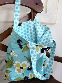Simple Reversible tote made from Modern Meadow by Joel Dewberry