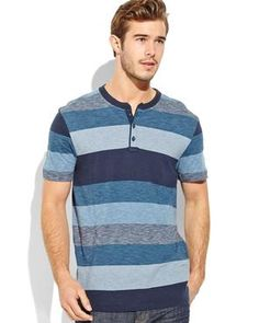 LEVI'S Blue Stripe Henley Tee #greatescapes #beachholiday #henleys #stripes #century21stores