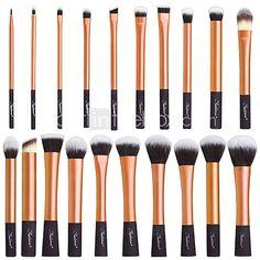 Conjunto Completo de Pinceis de Maquiagem Profissional com 3 cores diferentes. de 2017 por R$108.13