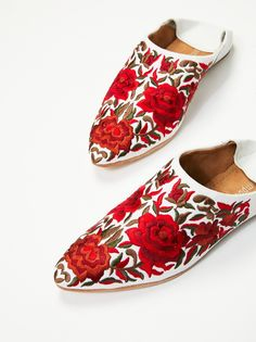 Jeffrey Campbell White / Red Combo Cava Flat at Free People Clothing Boutique