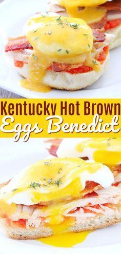 Kentucky Hot Brown Eggs Benedict | Foodtastic Mom #eggsbenedict #eggsbenedictrecipe #kentuckyhotbrown