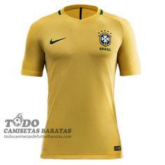 primera camiseta de futbol baratas Brasil 2016 €15.59 c4cc171282bd1