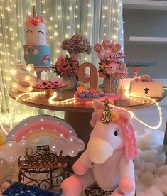 New Ideas For Birthday Party Dcoration Fairy Unicorn Birthday Parties, Birthday Fun, Bday Girl, Festa Party, Snacks Für Party, Childrens Party, Birthday Decorations, Party Time, Baby Shower