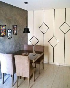 Room Diy - Bright Idea - Home, Room, Furniture and Garden Design Ideas Tape Wall Art, Washi Tape Wall, Tape Art, Diy Room Decor, Living Room Decor, Home Decor, Living Rooms, Bedroom Wall Designs, Room Paint Designs