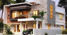 3 Bed Room Residence In Double Storied Lakhs Budget is part of Kerala house design - 4 bedroom contemporary house architecture plan by Forms 4 architectural from Kerala Indian Home Design, Kerala House Design, Unique House Design, House Front Design, Cool House Designs, Modern Villa Design, Best Home Design, Indian Home Interior, Bungalow Haus Design