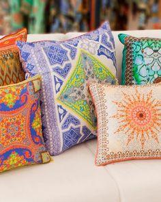 Double-sided silk cushions from CAMILLA - camilla.com.au