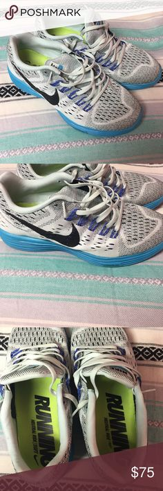 Nike Lunar Tempos Worn less than ten times. These are a size ten but run SUPER small. I would not recommend them if you are a true 10. I would say that these fit a size 9 maybe a 9.5. There are some spots on the shoes but nothing noticeable. Nike Shoes Athletic Shoes