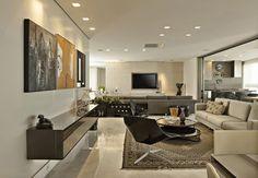 Cores lindas.            Mm. Mm. Mm.      Mix de referências e estilos. Veja: http://casadevalentina.com.br/projetos/detalhes/em-total-integracao-596 #decor #decoracao #interior #design #casa #home #house #idea #ideia #detalhes #details #style #estilo #casadevalentina #livingroom #saladeestar
