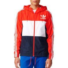 adidas Originals Men's California Windbreaker Jacket, Size: XXL, Core Red