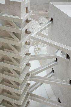 © lina bo bardi - SESC pompeia - sao paulo, brazil - 1990  ♦ × ARCHITECTURAL MODEL BRAZILIAN MODEL 1990 94