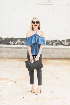 How To Style Denim On Denim For Date Night - Poor Little It Girl