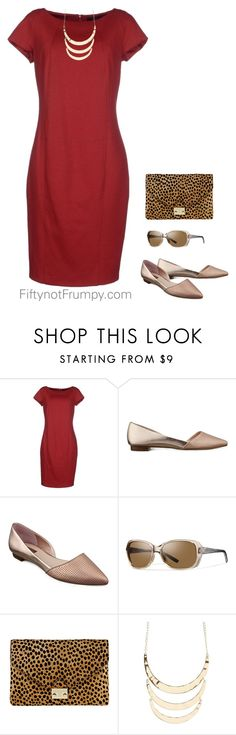"""Dress with flats"" by fiftynotfrumpy ❤ liked on Polyvore featuring SEVENTY, GUESS, Smith, Loeffler Randall and Charlotte Russe"