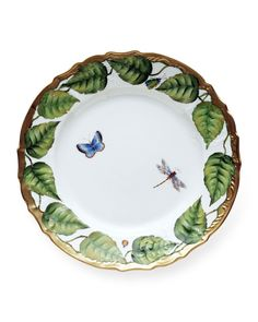 "Ivy Garland charger plate. Fine porcelain. 12.75""Dia. Hand wash; not suitable for use in microwave. Imported."