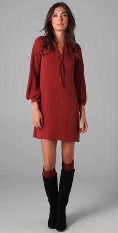Loving long sleeve short dresses for fall...