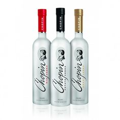 Chopin Three Pack Set of Wheat, Rye and Potato Vodka; Taste the Difference between Chopin's Single Grain Vodkas | spiritedgifts.com Gluten Free Liquor, Vodka Potato, Vodka Taste, Vodka Gifts, Premium Vodka, Rye, Vodka Bottle, Drinks, Drinking