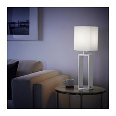 IKEA - TORSBO, Table lamp, You can create a soft, cozy atmosphere in your home with a textile shade that spreads a diffused and decorative light.