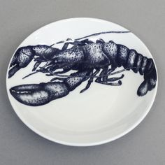 Bone China Nibbles Dish -Lobster - Classic, Contemporary & Cottage for your home