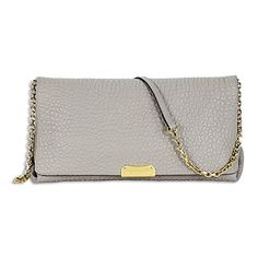 Burberry Medium Signature Stone Leather Clutch Cross-Body Women's Bag