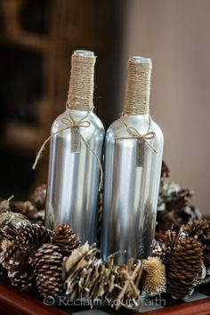 Wine bottle crafts.