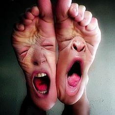 "If your feet could talk after a long day of shopping in high heels...""oh the pain..oh the suffocation!!  We hurt!!"""